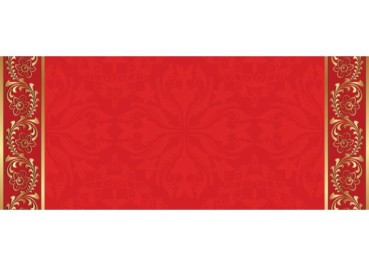 Fotobehang Klassiek   Rood, Goud   250x104cm