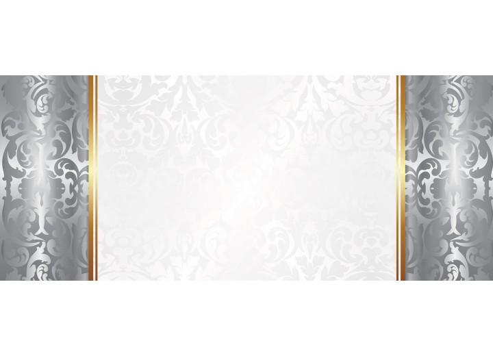 Fotobehang Klassiek | Zilver, Wit | 250x104cm