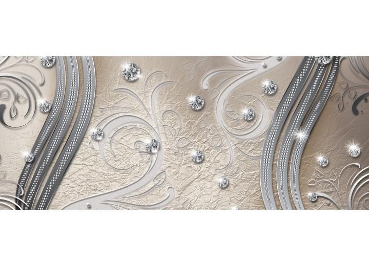 Fotobehang Modern | Zilver | 250x104cm