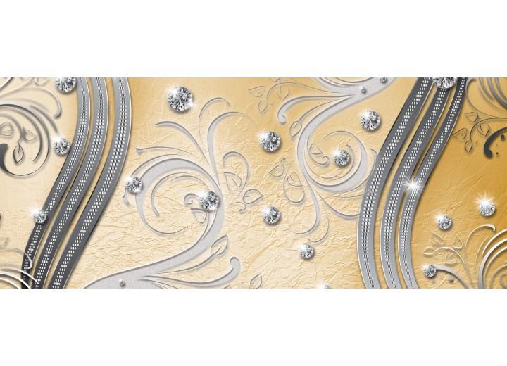 Fotobehang Modern | Zilver, Geel | 250x104cm