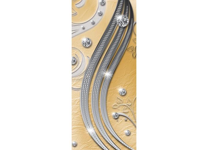 Deursticker Muursticker Modern    Zilver, Geel   91x211cm