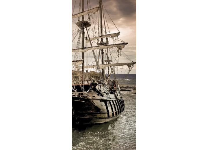Deursticker Muursticker Boot | Grijs | 91x211cm