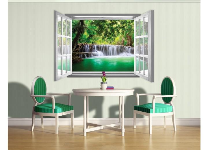Fotobehang Natuur | Groen, Wit |