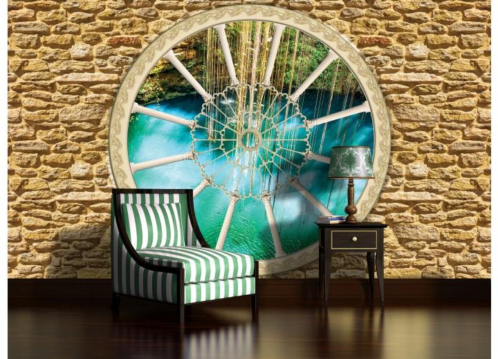 Fotobehang Stenen, Natuur | Groen | 104x70,5cm