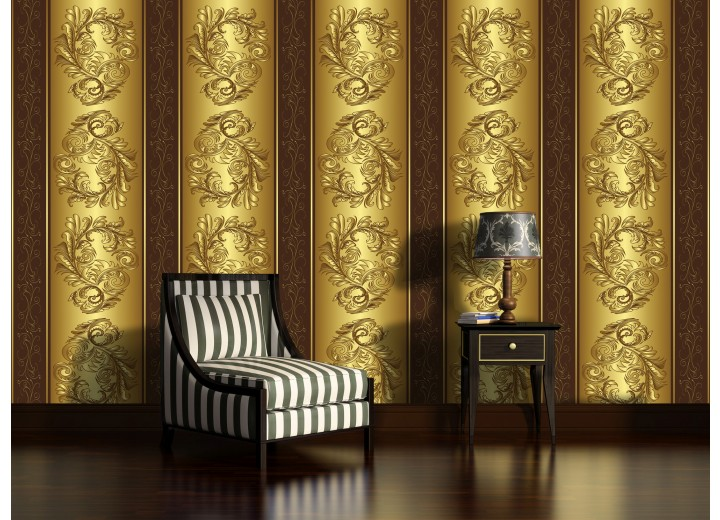 Fotobehang Klassiek | Goud, Bruin | 104x70,5cm