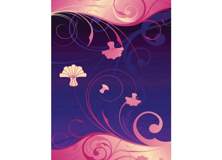 Fotobehang Papier Abstract | Roze, Paars | 184x254cm