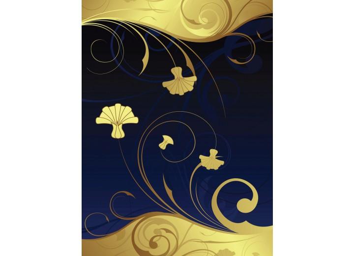 Fotobehang Papier Abstract | Geel, Blauw | 184x254cm