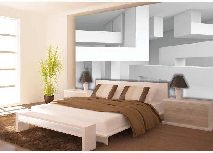 Fotobehang 3D, Modern | Wit | 152,5x104cm