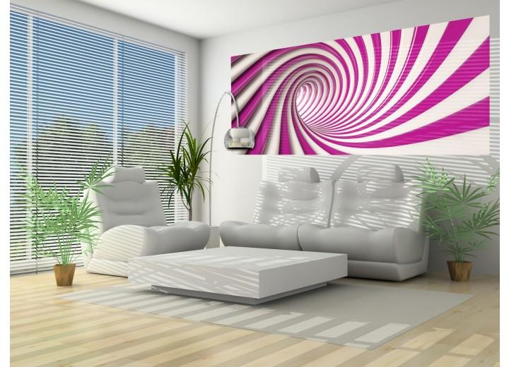 Fotobehang Design | Roze, Paars | 250x104cm
