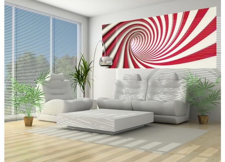 Fotobehang Design, Slaapkamer | Rood, Wit | 250x104cm