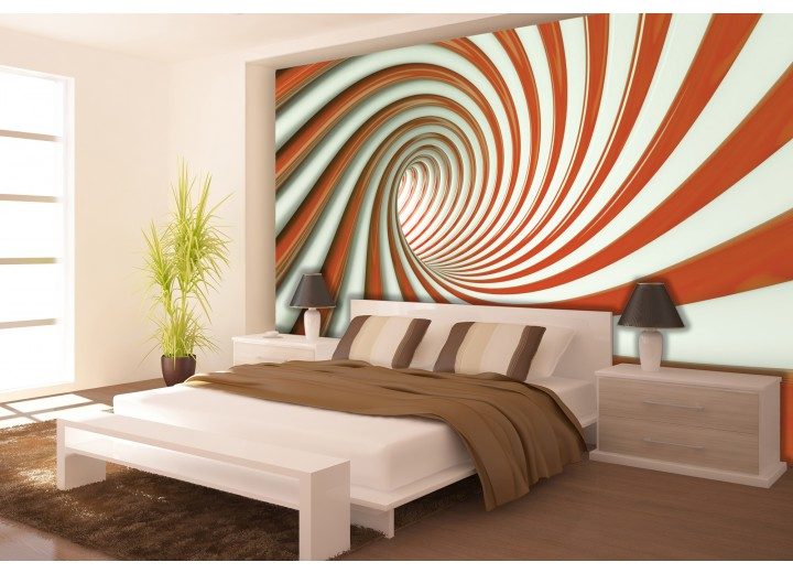 Fotobehang Design, Slaapkamer | Oranje | 104x70,5cm