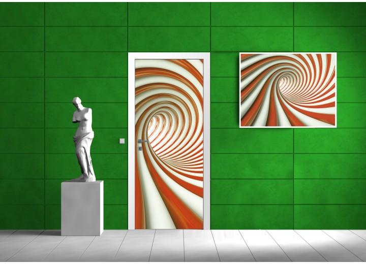 Fotobehang 3D | Bruin | 91x211cm