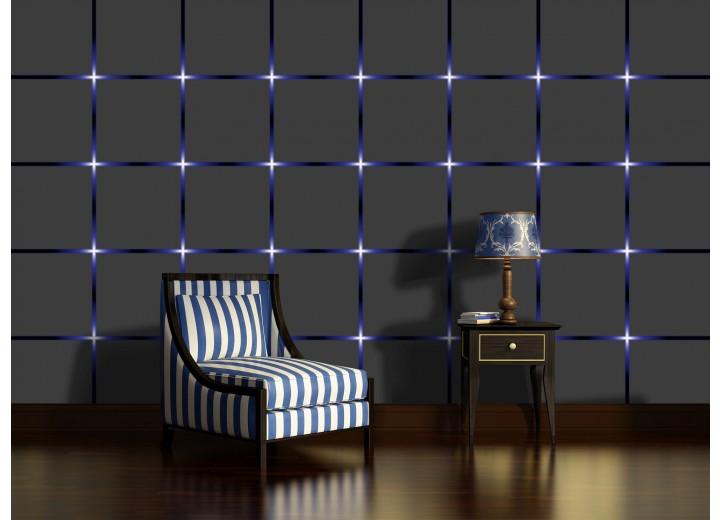Fotobehang Design | Grijs, Blauw | 104x70,5cm