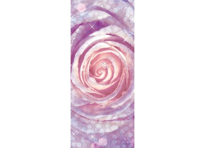 Deursticker Muursticker Roos   Paars, Roze   91x211cm