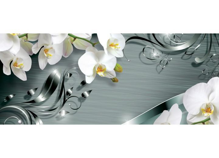 Fotobehang Bloemen, Orchidee | Wit | 250x104cm