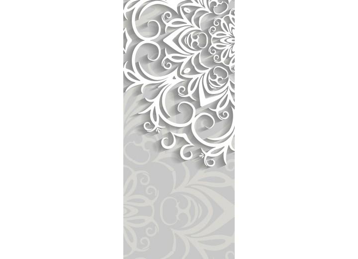 Deursticker Muursticker Bloemen, Modern | Wit | 91x211cm