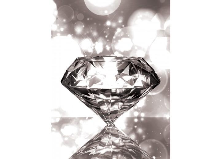 Fotobehang Papier Diamant, Steen   Grijs   184x254cm