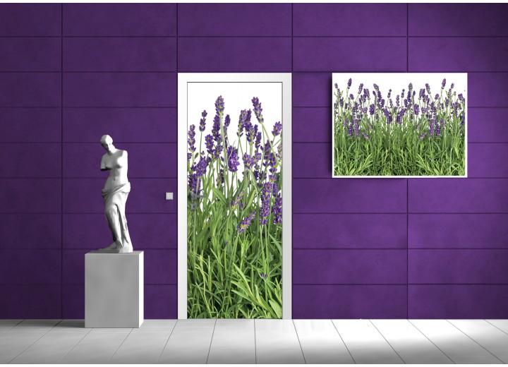 Fotobehang Bloemen | Groen | 91x211cm