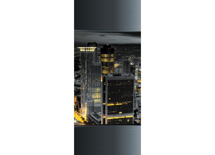 Fotobehang Skyline | Grijs | 91x211cm