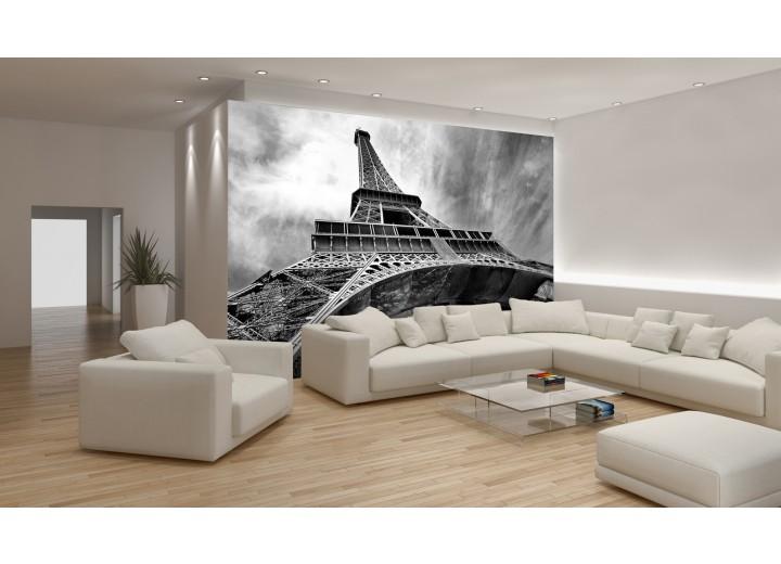 Fotobehang Papier Eiffeltoren, Parijs | Grijs | 254x184cm