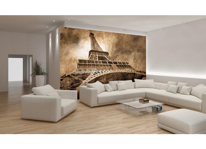 Fotobehang Eiffeltoren, Parijs | Sepia | 416x254