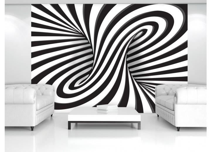 Fotobehang 3D, Design | Zwart | 208x146cm