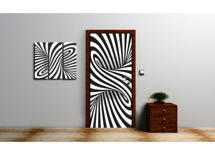 Fotobehang Design | Zwart, Wit | 91x211cm