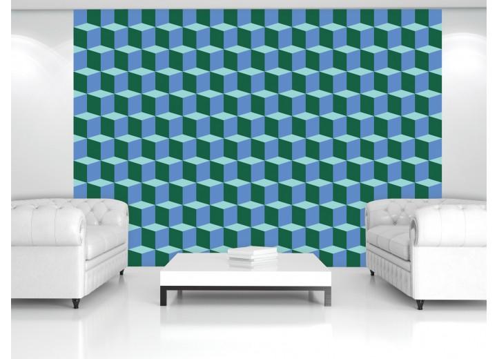 Fotobehang Vlies | 3D | Blauw, Groen | 368x254cm (bxh)