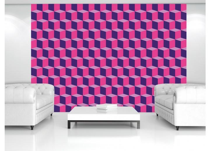 Fotobehang 3D, Design | Roze | 416x254