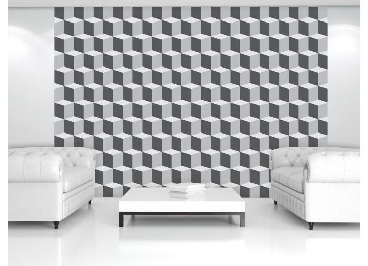 Fotobehang 3D, Design | Grijs | 104x70,5cm