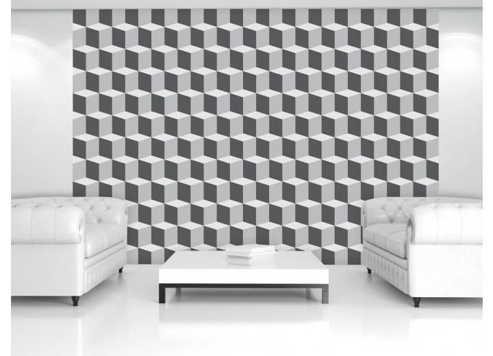 Fotobehang Vlies   3D, Design   Grijs   368x254cm (bxh)