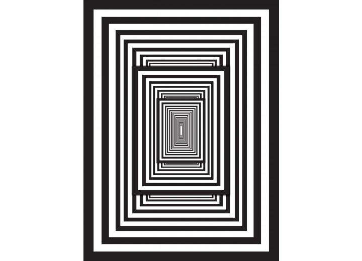 Fotobehang Papier 3D | Zwart, Wit | 184x254cm
