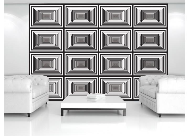 Fotobehang Design | Zwart, Wit | 152,5x104cm