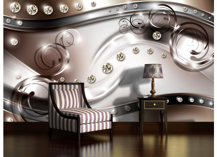 Fotobehang Vlies | Modern, Design | Zilver | 368x254cm (bxh)