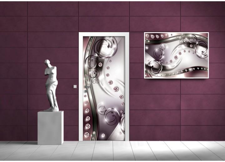 Fotobehang Modern | Zilver, Grijs | 91x211cm