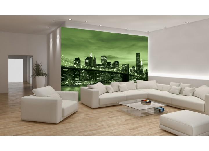 Fotobehang New York | Groen | 152,5x104cm