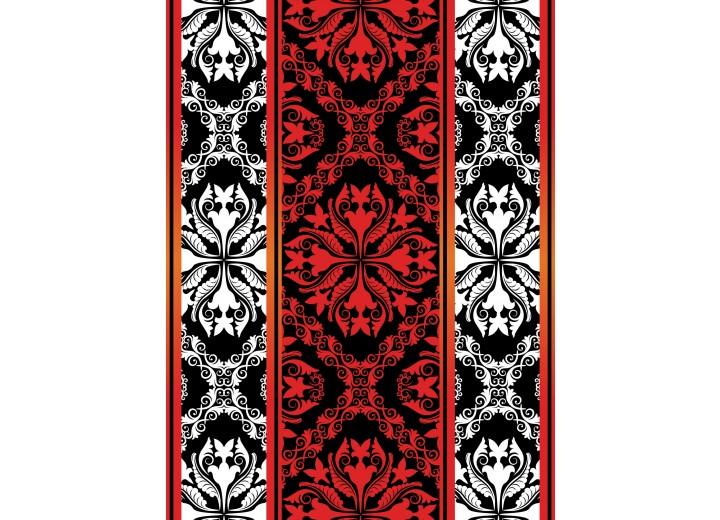 Fotobehang Papier Klassiek | Zwart, Wit | 184x254cm