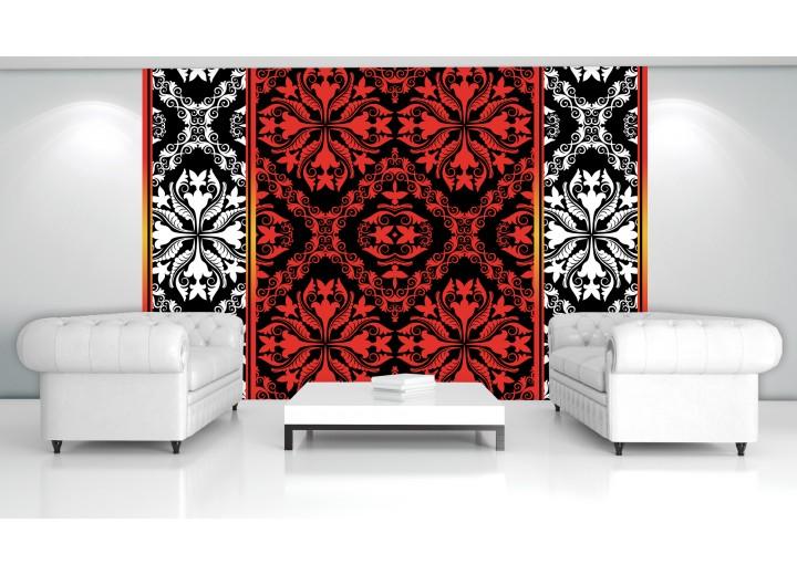 Fotobehang Vlies   Abstract   Rood, Zwart   368x254cm (bxh)