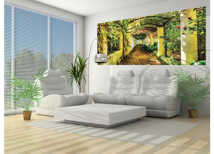Fotobehang Natuur | Groen, Geel | 250x104cm
