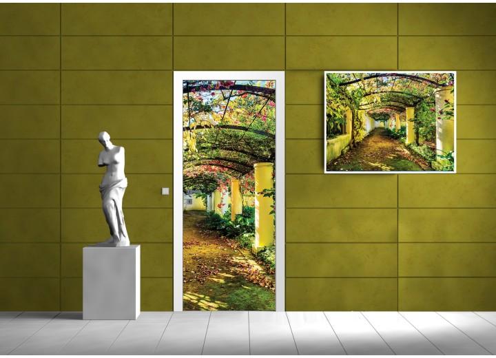 Deursticker Muursticker Natuur | Geel, Groen | 91x211cm