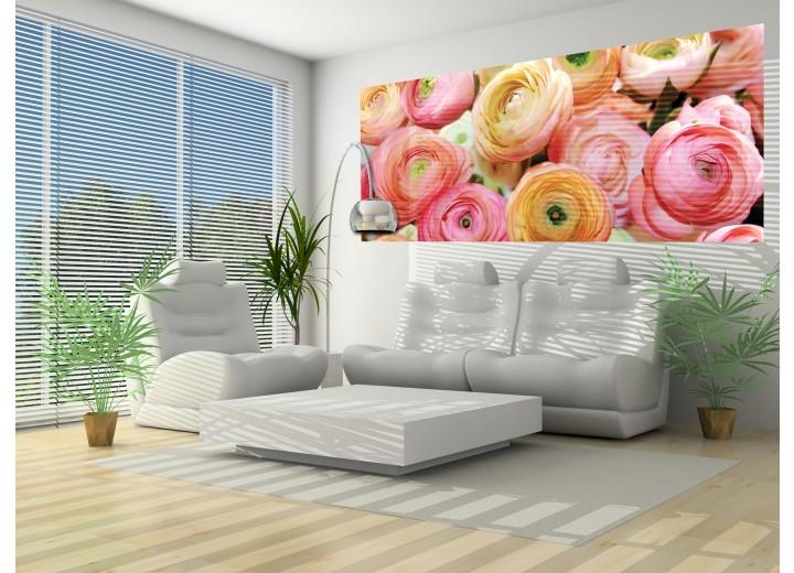 Fotobehang Bloemen | Roze | 250x104cm