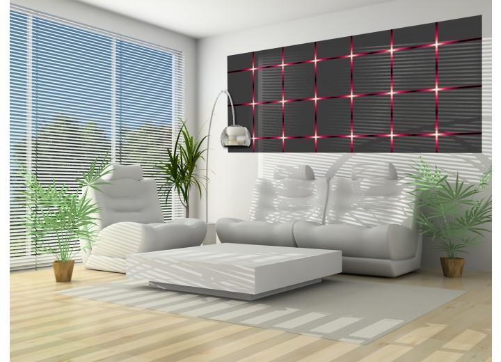 Fotobehang Design | Grijs, Rood | 250x104cm