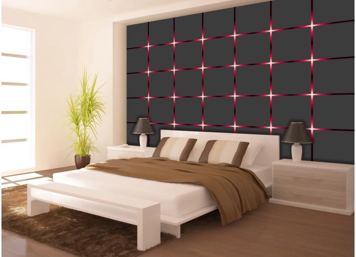 Fotobehang Vlies | Design | Grijs, Rood | 368x254cm (bxh)