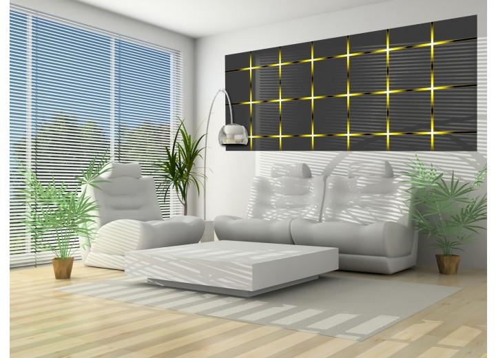 Fotobehang Design   Grijs, Geel   250x104cm