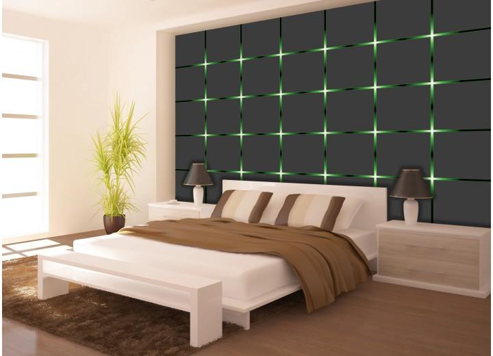Fotobehang Design | Grijs, Groen | 104x70,5cm