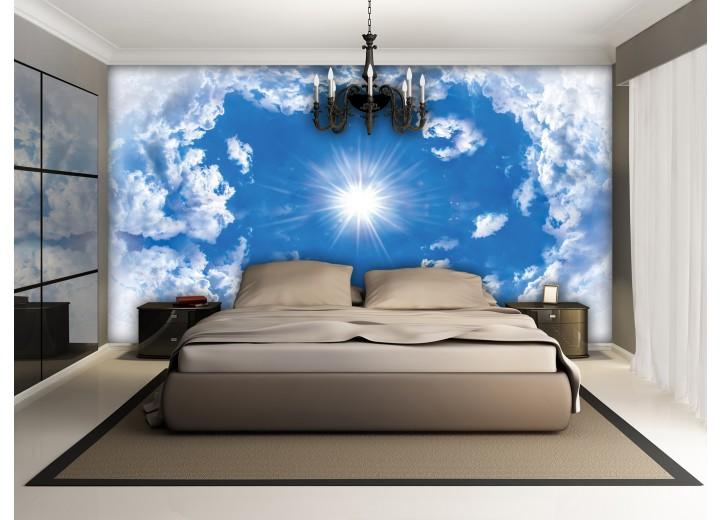 Fotobehang Vlies | Lucht, Wolken | Blauw | 368x254cm (bxh)