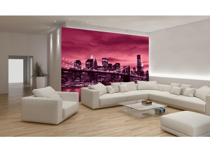 Fotobehang New York | Roze | 152,5x104cm