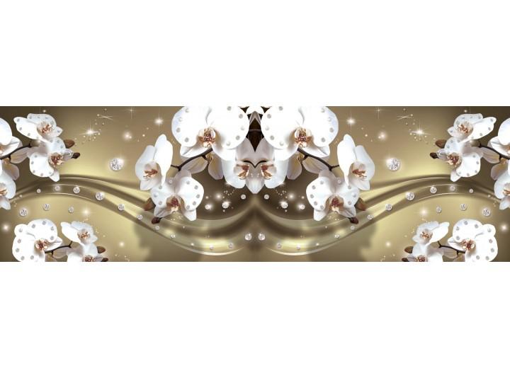 Fotobehang Vlies Orchideeën, Bloemen | Wit | GROOT 624x219cm