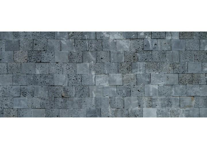 Fotobehang Muur, Stenen | Grijs | 250x104cm