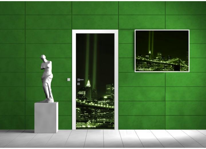 Fotobehang New York | Groen | 91x211cm